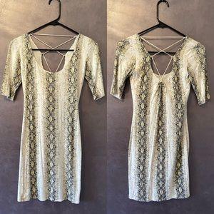 Bebe Snakeskin Dress XS